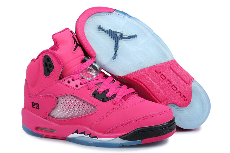 Classic Jordan 5 Retro Pink Black Blue For Women