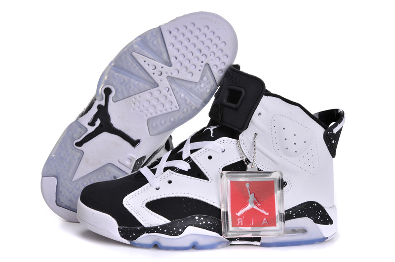 Classic Jordan 6 Original White Black For Women