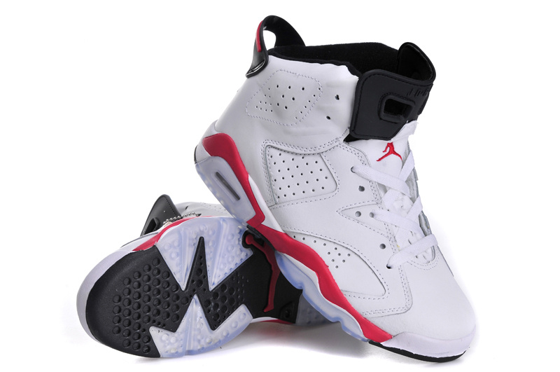 Classic Jordan 6 Retro White Red Black For Women