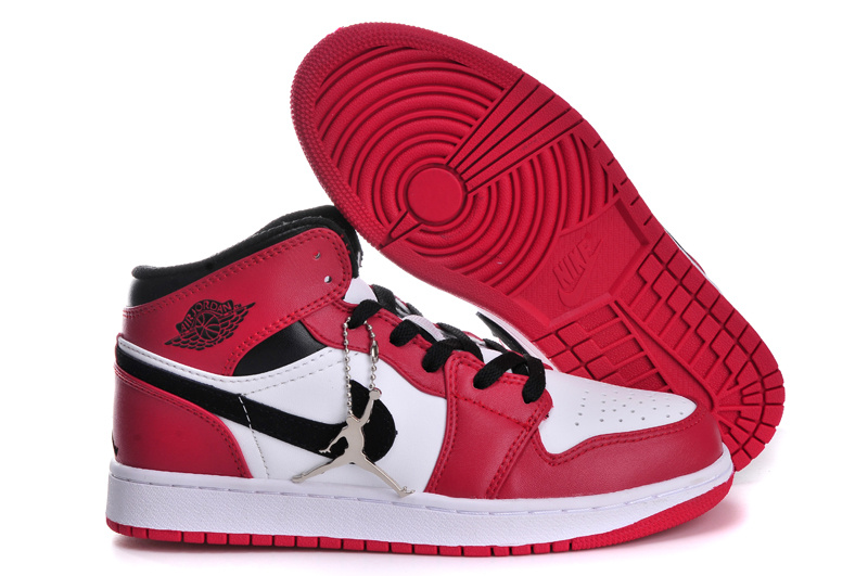 Classic Air Jordan 1 Original Red White Black For Women