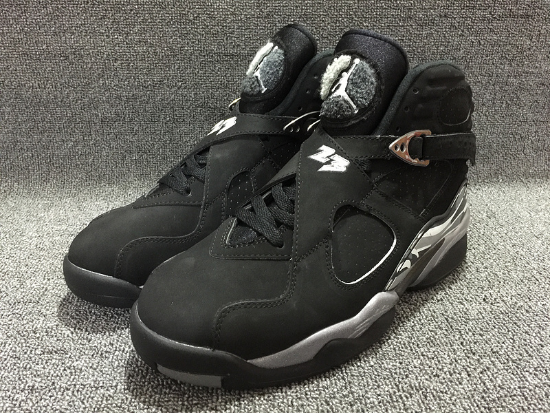 2016 Air Jordans 8 Chrome Black Sneaker