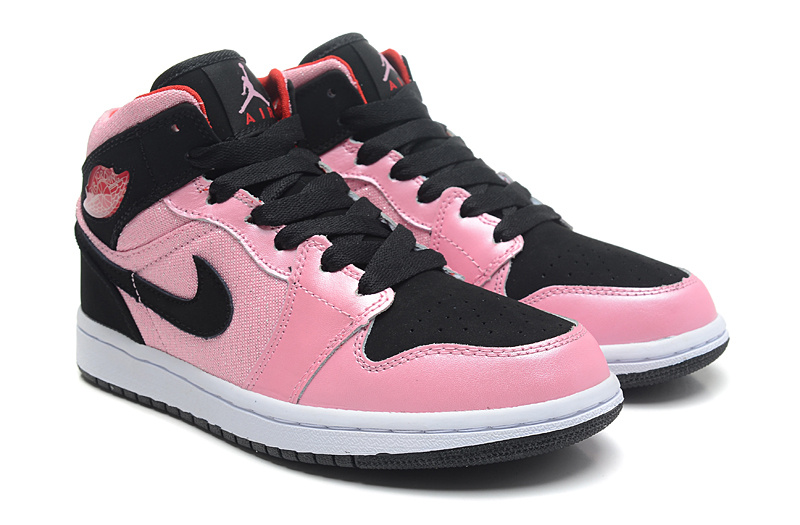 Classic Jordan 1 Valentine 555112 608 Retro Pink Black For Women