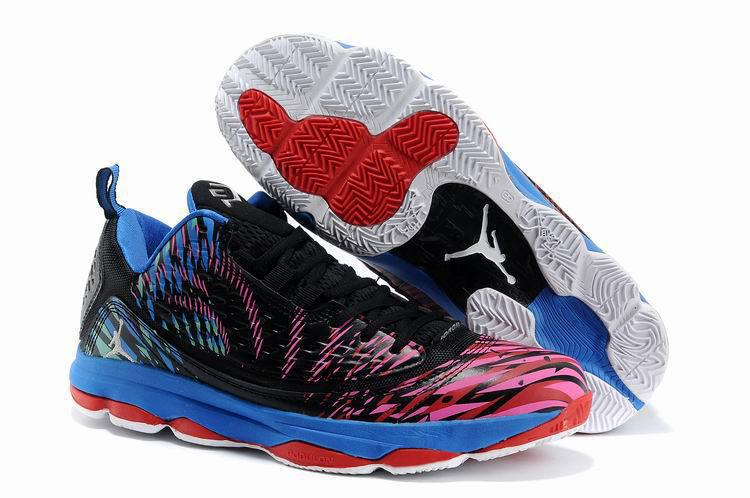 Classic Jordan CP3 2 Original Red Black Blue Shoes