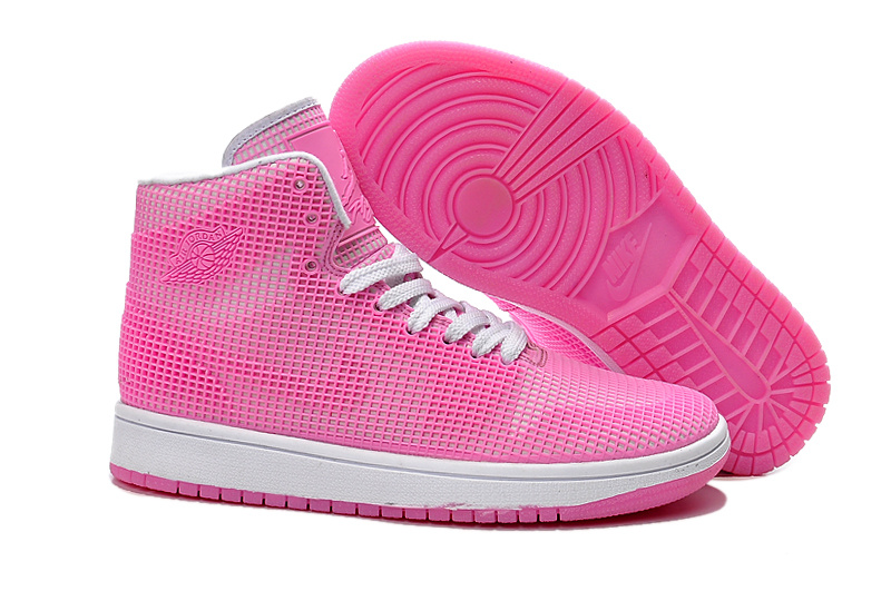 Fluorescence Pink Air Jordans Shoes