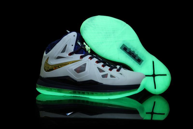Nike Lebron 10 Glow White Basketball Shoes