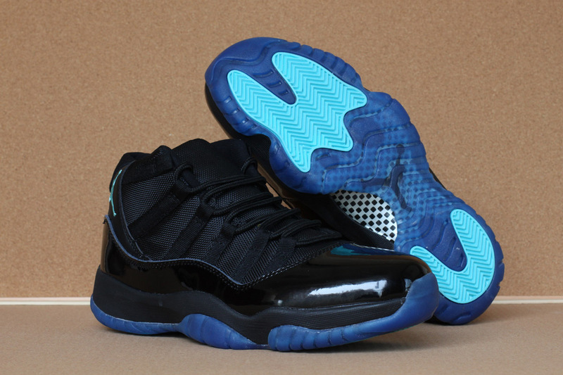 Jordans 11 High Black Blue Retro Sneaker