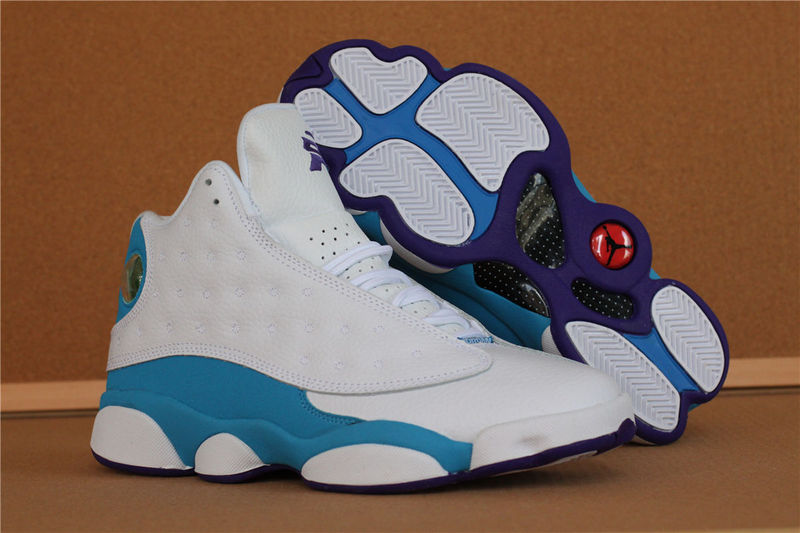 Jordans 13 High White Blue Retro Shoes
