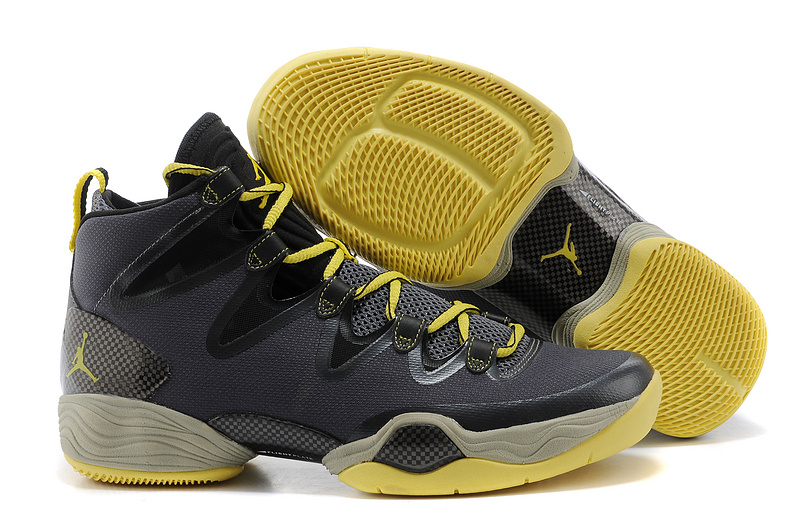 Jordans 28 Black Yellow Shoes For Sale