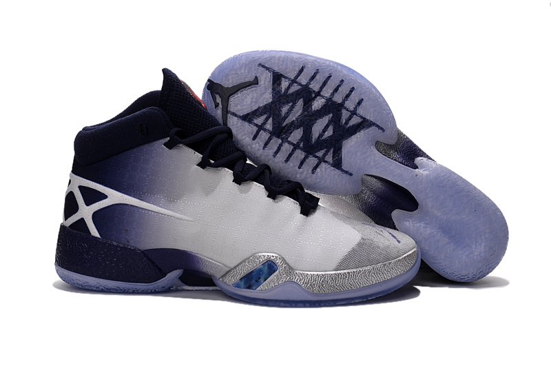 Jordans 30 Westbrook Blue Purple White Sliver Shoes For Sale