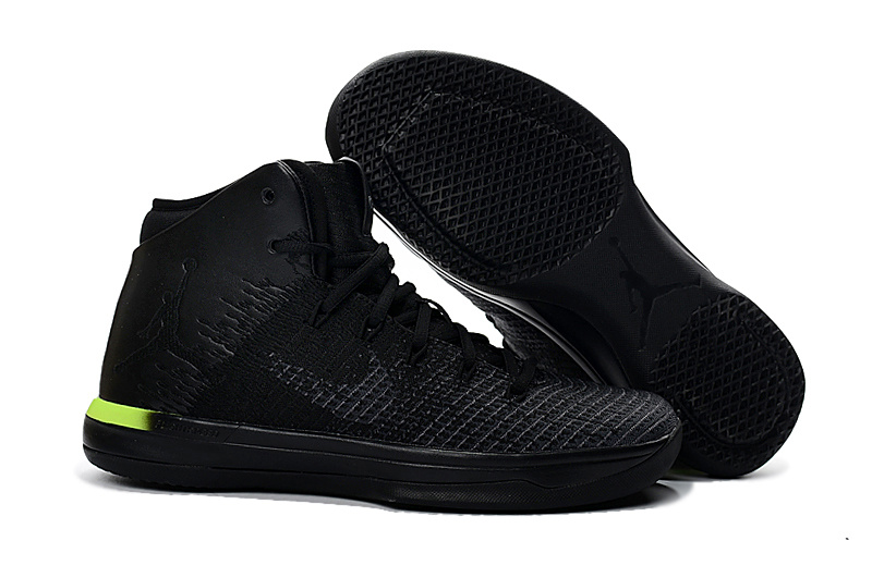 Jordans 31 Black Green Basketball Shoes For Sale