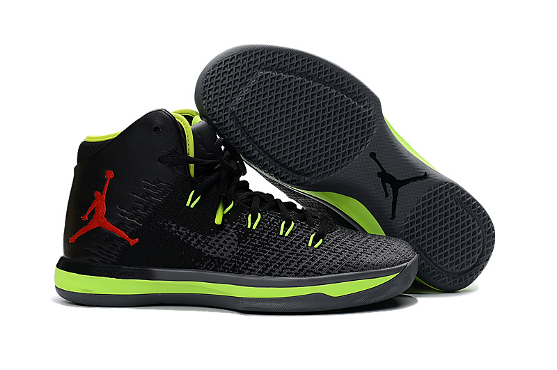 Jordans 31 Black Light Green Baskebtall Shoes For Sale