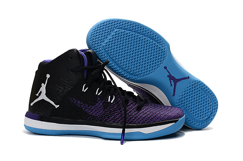 Jordans 31 Black Purple Jade Basketball Shoes For Sale