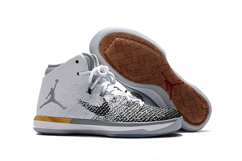 Jordans 31 Chinese Year Black Grey White Basketball Shoes
