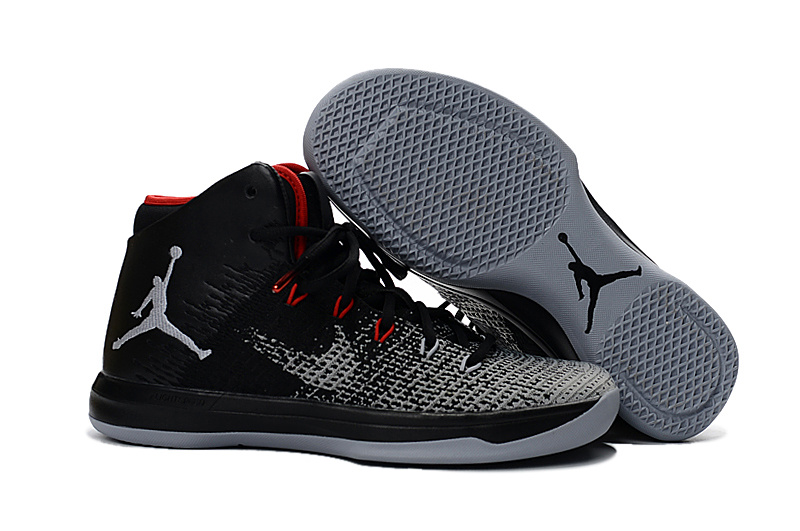Jordans 31 Grey Black Red Basketball Shoes For Sale