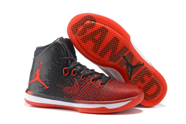Jordans 31 High Black Red Basketball Shoes For Sale