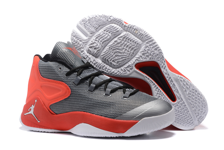 Jordans Antony Grey Red Basketball Shoes