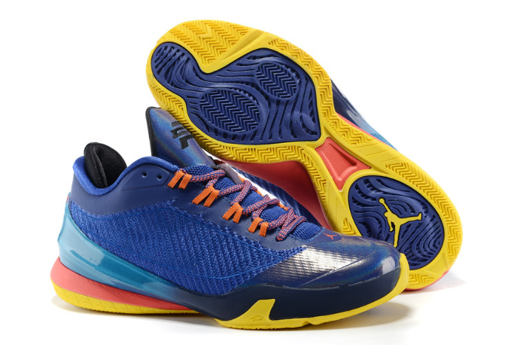 Jordans CP3 8 Purple Blue Orange Shoes For Sale