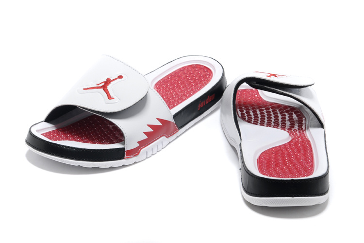 Jordans Hydro 5 Retro White Red Black Sandal