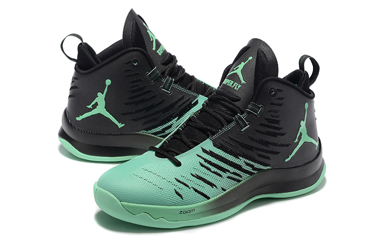 Jordans Super Fly 5 All Star Green Basketball Shoes