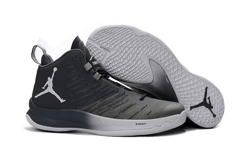 Jordans Super Fly 5 X Griffin Grey White Basketball Shoes For Sale