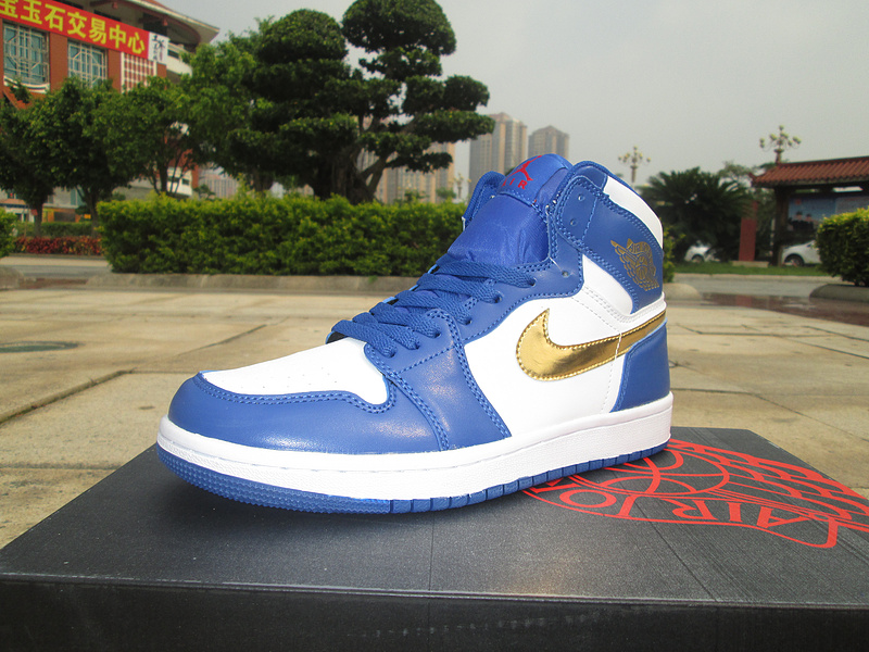 Jordans 1 Olympic Gloden Swoosh Shoes