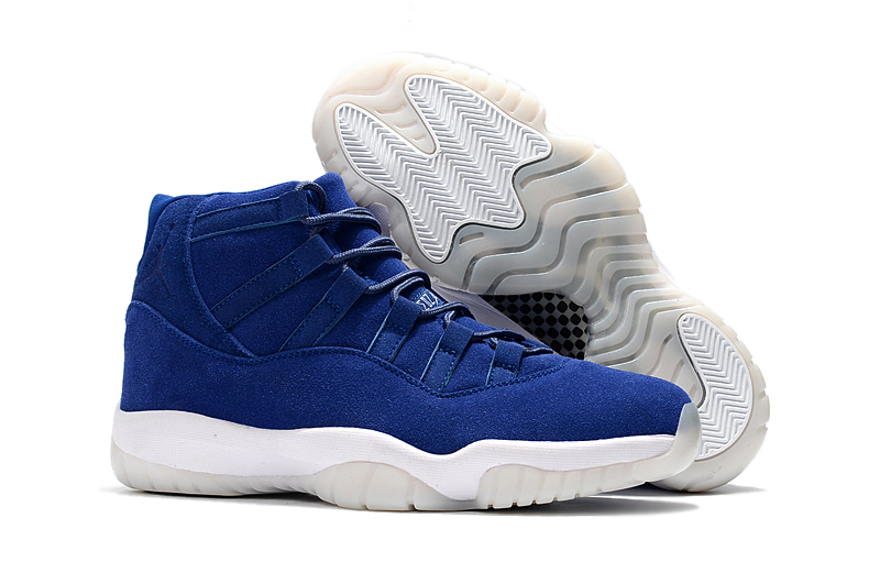 Jordans 11 Navy Suede Shoes