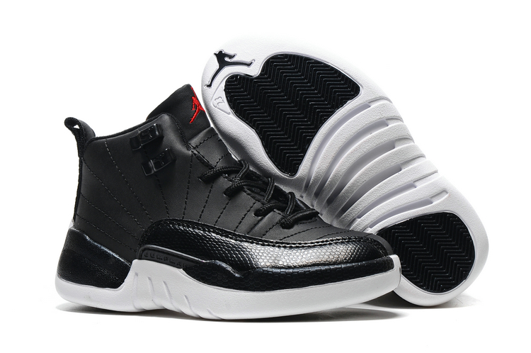 Jordans 12 Black Shoes For Kids