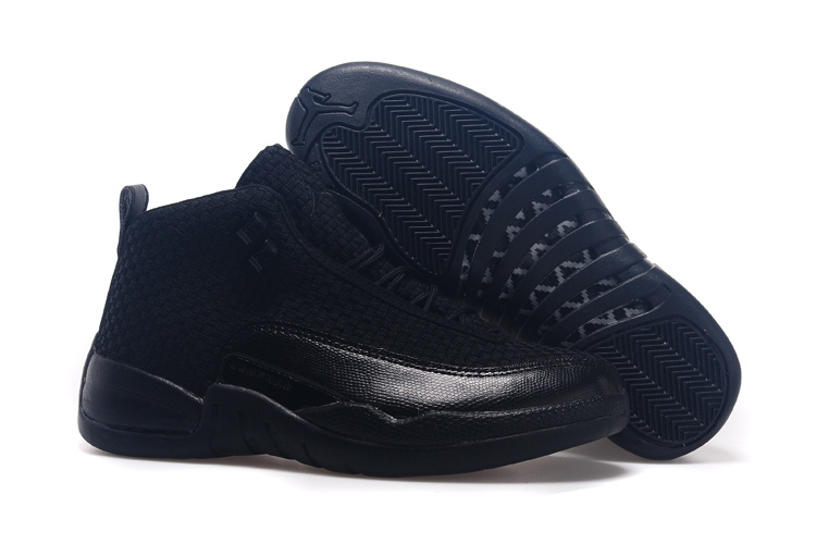 Jordans 12 Future All Black Shoes