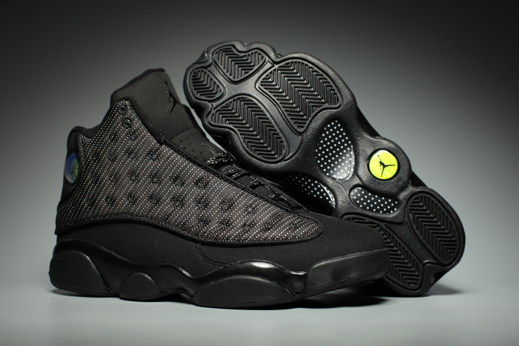 Jordans 13 All Black Shoes