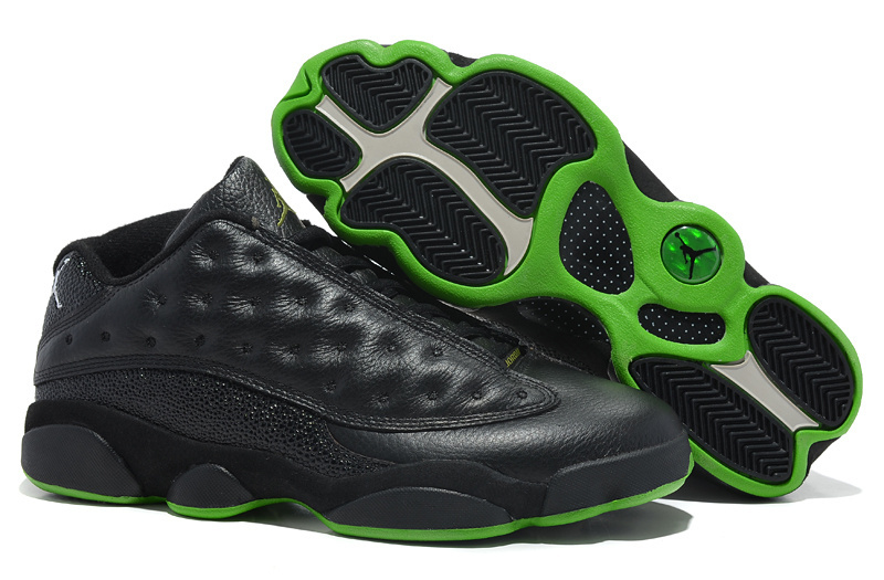 Jordans 13 Low Classic Black Green