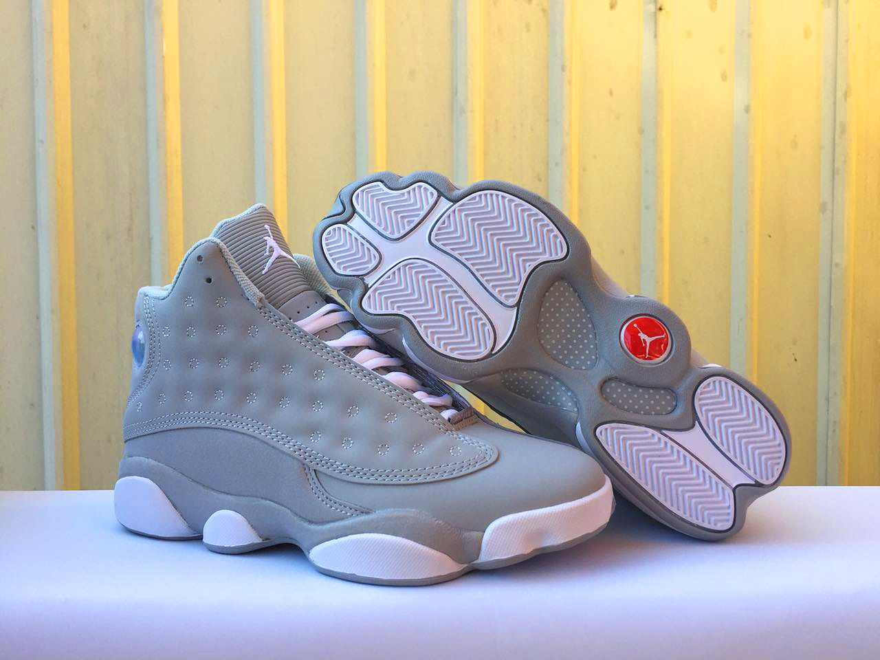 Jordans 13 Unique Grey Shoes