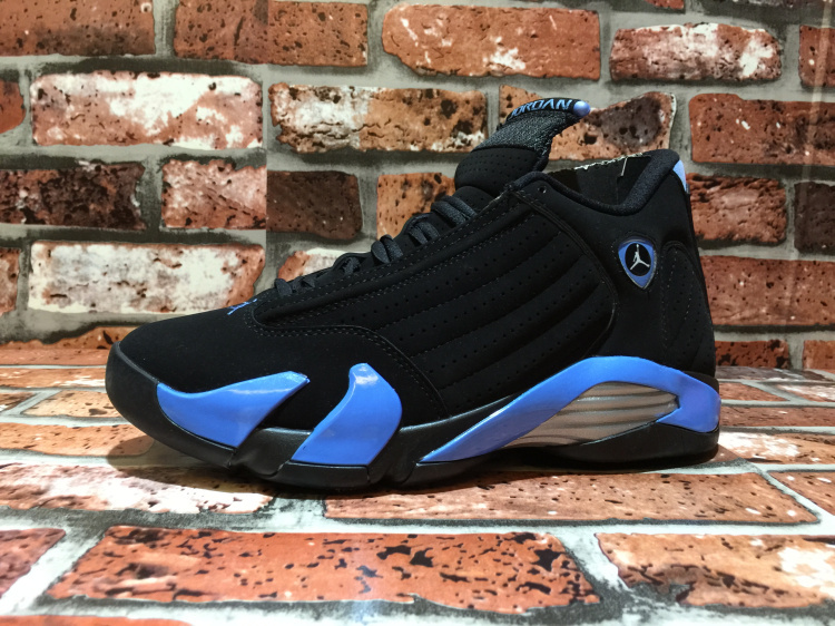 Jordans 14 Retro OG North Carolina Black Blue Shoes