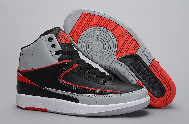 Jordans 2 Black Grey Shoes