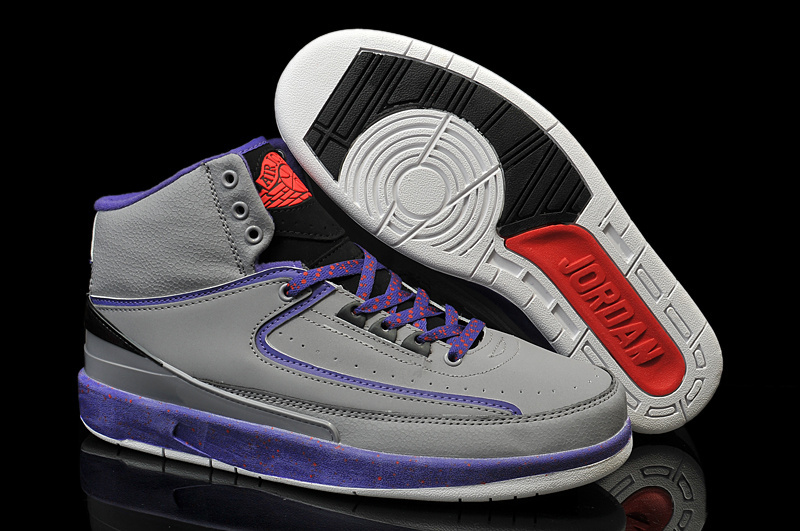 Jordans 2 Grey Purple Shoes