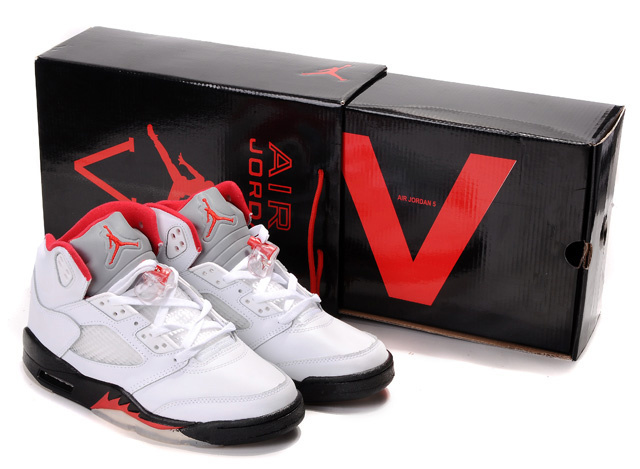 Jordans 5 Original Hardcover Box White Black Red_05