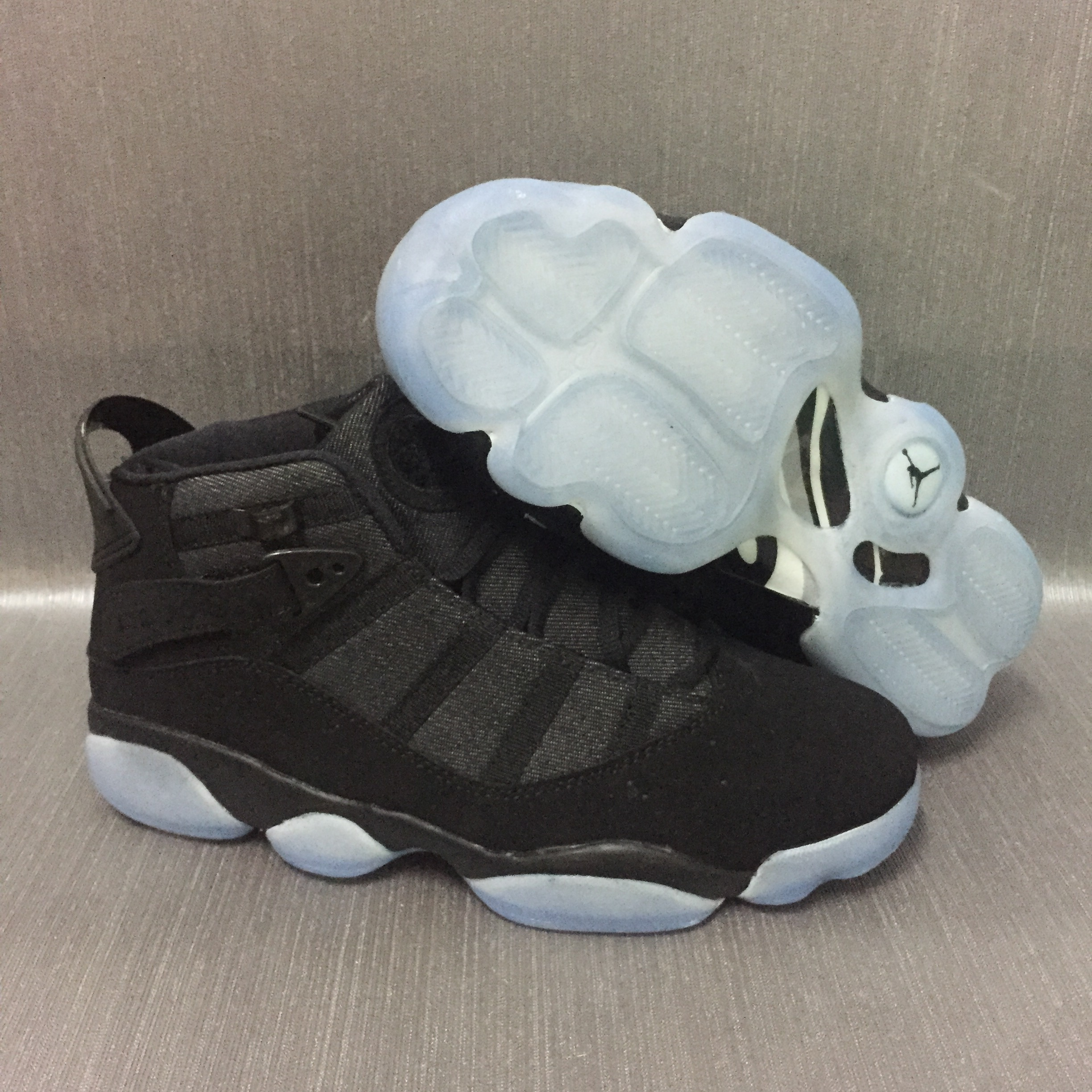 Jordans 6 Champion Black White Shoes