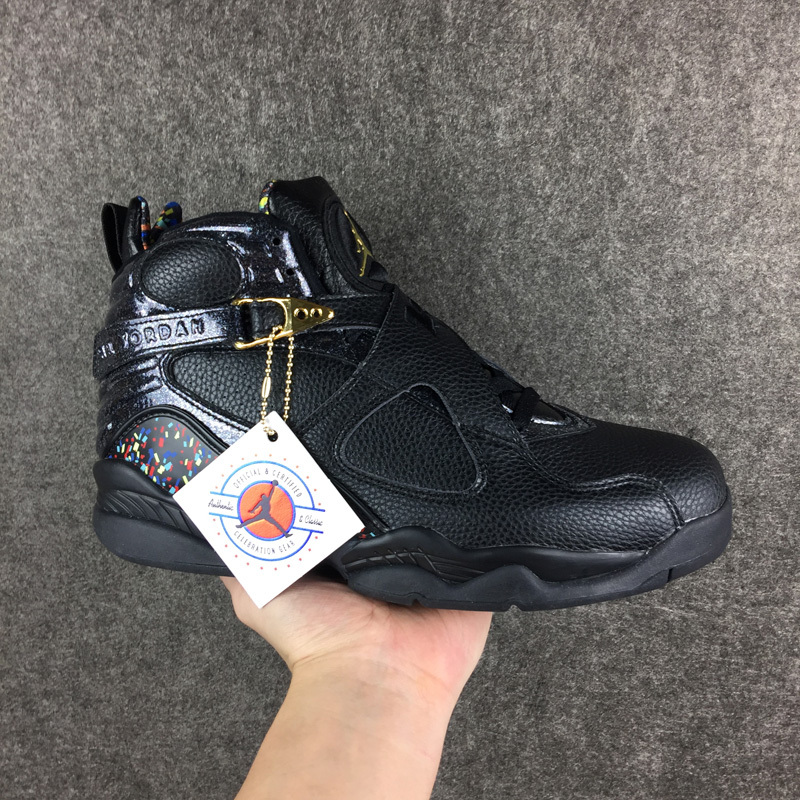 Jordans 8 Champion Version All Black Shoes
