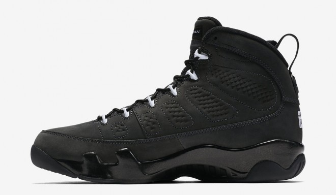 Jordans 9 Coal Color Basketball Shoes