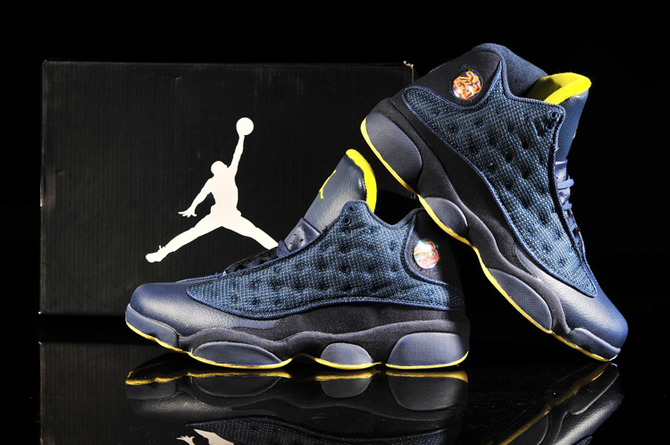 Latest 2013 Air Jordan Retro Blue Yellow