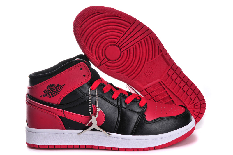 Latest Air Jordan 1 Retro Red Black White For Women