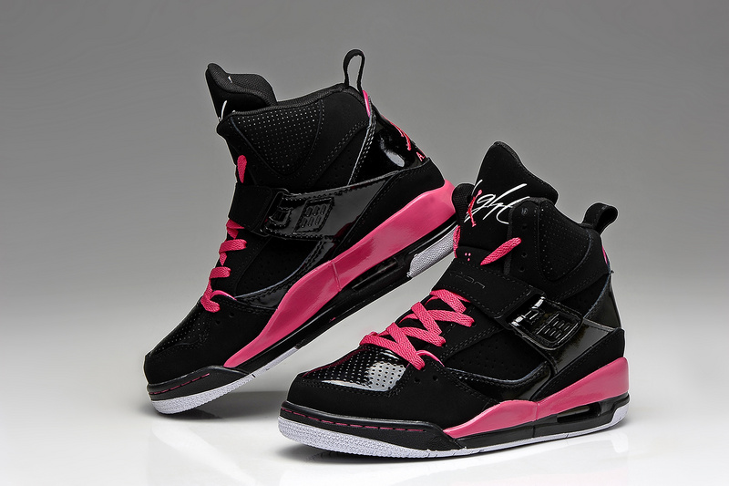 Latest Air Jordan 45 Flight Classic Black Pink For Women