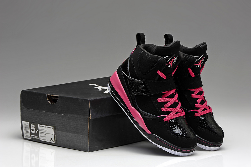 new product e8dfd 68011 Latest Air Jordan 45 Flight Classic Black Pink For Women