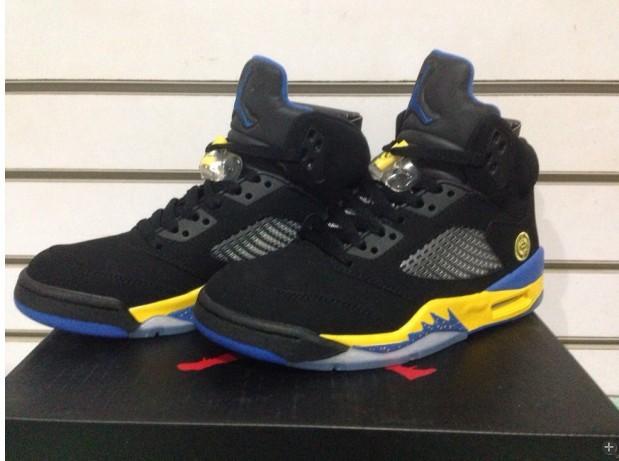 Latest Air Jordan 5 Classic Black Yellow
