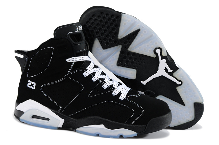 Latest Air Jordan 6 Classic Black White_06