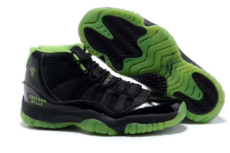 Latest Air Jordans 11 Classic Black Green