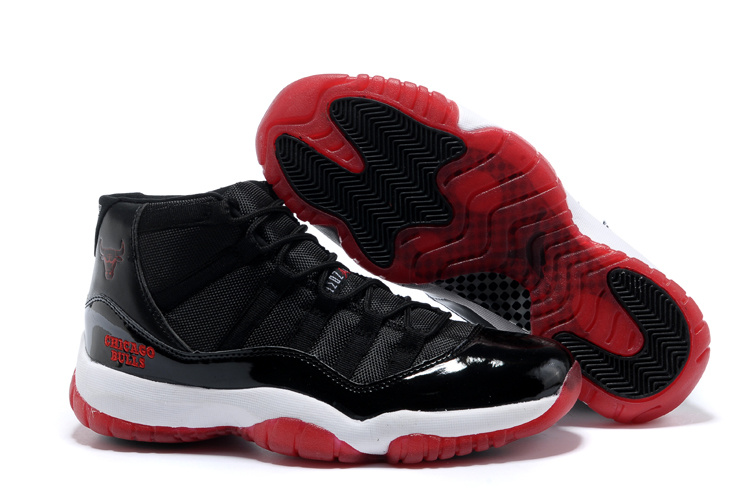 Latest Air Jordans 11 Classic Black White Red