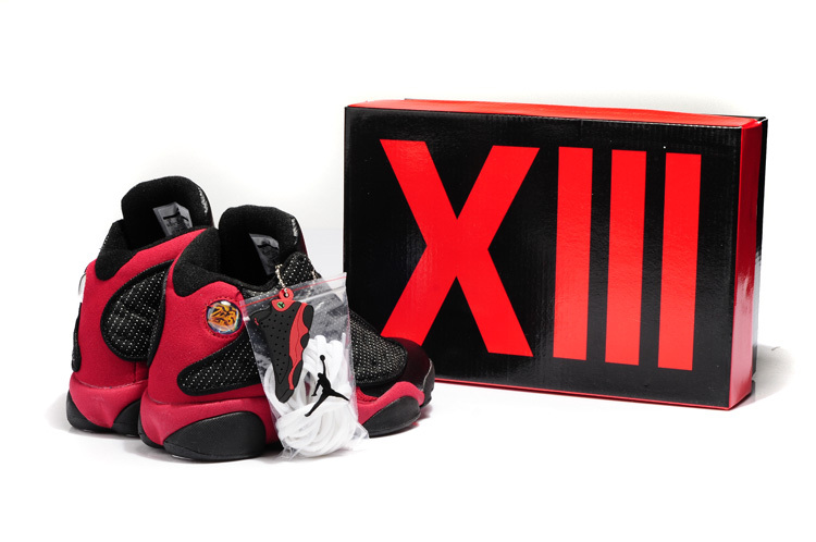 Latest Air Jordans 13 Hardback Retro Black Red