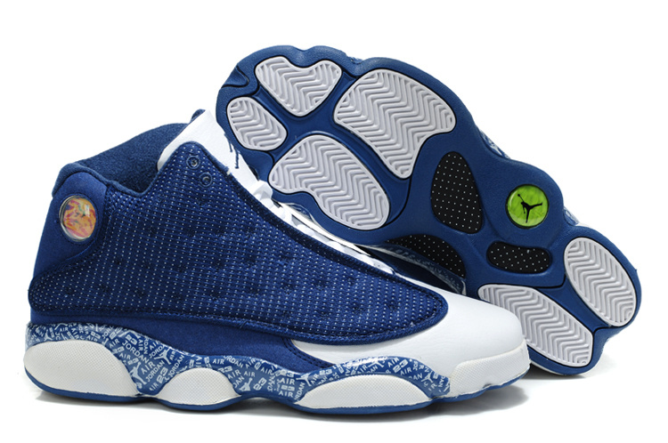 Latest Air Jordans 13 Original Dark Blue White