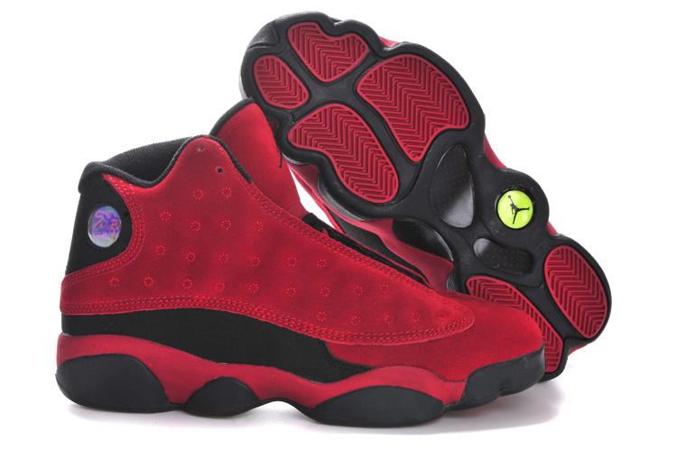 outlet store 6c59a b8c05 Cheapest Latest Air Jordans 13 Suede Retro Dark Red Black On Sale