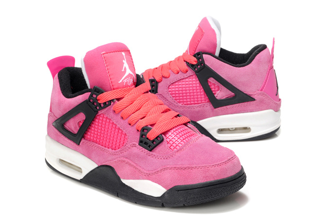 Latest Air Jordans 4 New Pink White For Women